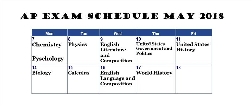 exam schedule image
