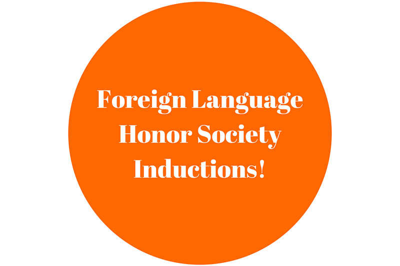 Foreign Language Honor Society Inductions