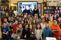Babylon Memorial Grade School students host virtual interview with inspirational speaker photo thumbnail162048